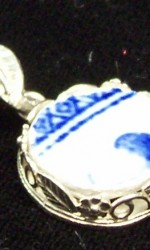 Laura's Blue Willow Pendant #2