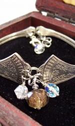 silverware bracelet clear champagne