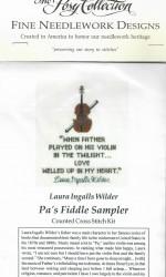Pa's Fiddle Sampler Cross Stitch