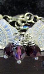 silverware bracelet dark purple