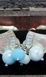 silverware bracelet teal white